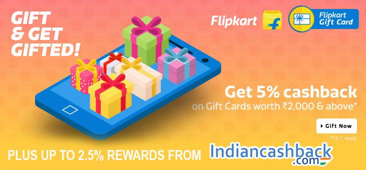 flipkart gift vocuher cashback offer