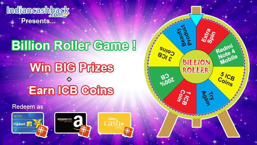 Billion Roller Wheel game IndianCashback