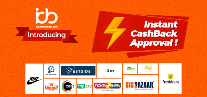 indiancashback introducing instant cashback